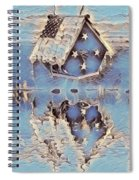 Blue Birdhouse  Spiral Notebook