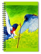 Blue Birds Spiral Notebook