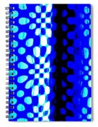 Blue Black Pattern Abstract Spiral Notebook