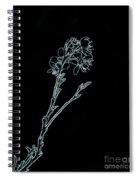 Blue Blossoming Branch In Prayer Spiral Notebook