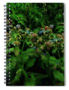Blue Blossoms By Moonlight Spiral Notebook
