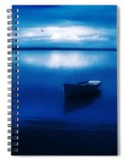 Blue Blue Boat Spiral Notebook