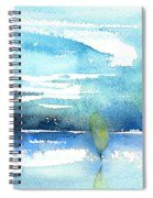 Blue Blue The World Is Blue Spiral Notebook