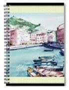 Blue Boats Spiral Notebook