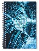 Blue Britain Bus Bill Spiral Notebook