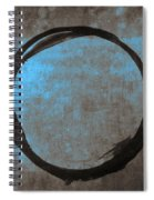 Blue Brown Enso Spiral Notebook