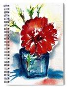 Blue Bud Vase Spiral Notebook