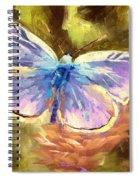 Blue Butterfly Spiral Notebook