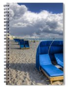 Blue Cabana Spiral Notebook