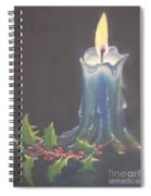 Blue Candle Spiral Notebook