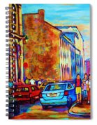 Blue Cars At The Resto Bar Spiral Notebook
