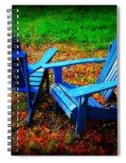 Blue Chairs Spiral Notebook