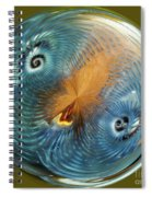 Blue Christmas Spiral Notebook