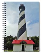 Blue Clouds At The Lighthouse Spiral Notebook