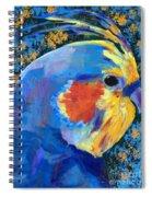 Blue Cockatiel Spiral Notebook