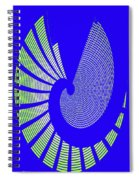 Blue Colored Metal Panel Tempe Center For The Arts Abstract Spiral Notebook