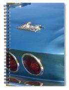 Blue Corvette Stingray Spiral Notebook