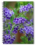 Blue Cottage Flowers Spiral Notebook