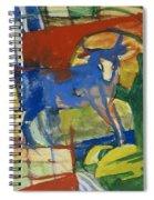 Blue Cow Spiral Notebook