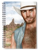 Blue Cowboy Spiral Notebook