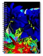 Blue Dahlias Spiral Notebook