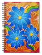 Blue Daisies Gone Wild Spiral Notebook