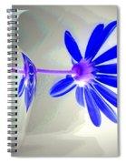 Blue Daisy Delight Spiral Notebook