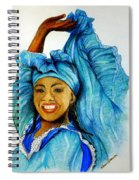 Blue Dancer  Spiral Notebook