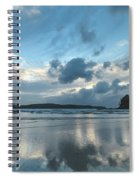 Blue Dawn Seascape With Cloud Reflections Spiral Notebook