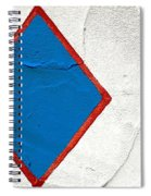 Blue Diamond Red Square White Wall  Spiral Notebook