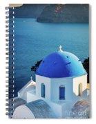 Blue Dome Spiral Notebook