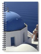 Blue Dome Pink Bell Tower Spiral Notebook