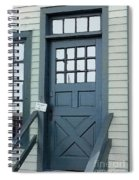Blue Door At The Seaport Spiral Notebook