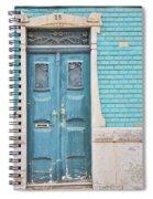 Blue Door, Portugal Spiral Notebook