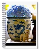 Blue Dragon And Hydrangeas Spiral Notebook