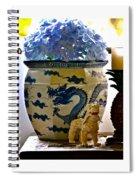 Blue Dragon And Hydrangeas Spiral Notebook