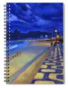 Blue Dusk Ipanema Spiral Notebook