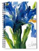 Blue Dutch Iris For Kappa Kappa Gamma Spiral Notebook