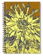 Blue-edged Dahlia Spiral Notebook