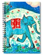 Blue Elephant Facing Right Spiral Notebook