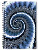 Blue Escheresque Spiral Notebook
