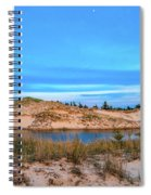 Blue Evening In Ludington State Park Spiral Notebook