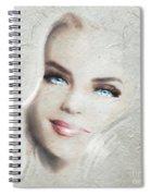 Blue Eyes Blond  Spiral Notebook