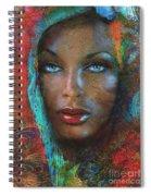 Blue Eyes Dark Oriental Spiral Notebook