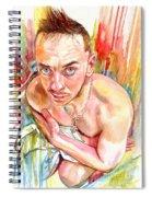 Blue Eyes Heartbreaker Spiral Notebook