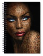 Blue Eyes Wild 3 Spiral Notebook