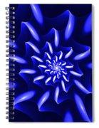 Blue Fantasy Floral Spiral Notebook