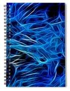 Blue Fibers Intertwined Spiral Notebook