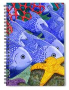 Blue Fish Spiral Notebook