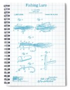 Blue Fishing Lure Patent Spiral Notebook